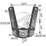 M981 Hanger for Front of Rear F-150  97-04  F75Z5775AA