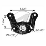 ST-501 Ford Front of Rear Bracket - 2-1/4""