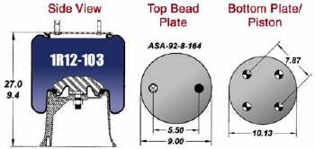 1R12-103 Goodyear Air Spring