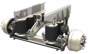 2323002b Ridewell 20k Steerable Liftable Axle