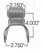 330-172 FORD STAMPED SHACKLE