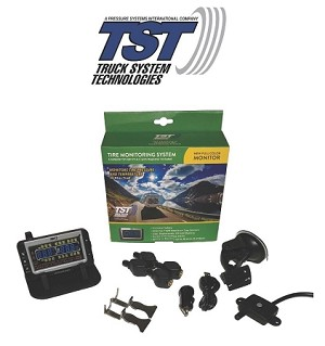 TST-507-FT-4-C Flow Thru Truck Tire Pressure and Temperature Maintenance System 4 Sensor Color Monitor